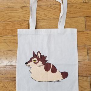 手書きトートバッグ【ツチノコオオカミ】