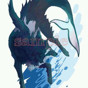 シャチ狼キーホルダー