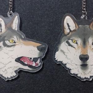 狼アクリルキーホルダー