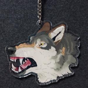 怒った狼アクリルキーホルダー