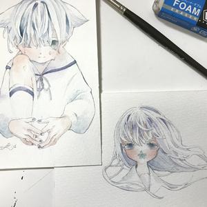 原画【ポスカサイズ・未額装】