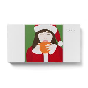 サンタガール モバイルバッテリー 横