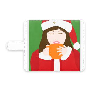サンタガール 手帳型Androidケース