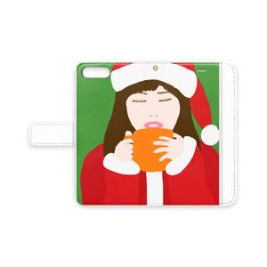 サンタガール 手帳型iPhoneカバー