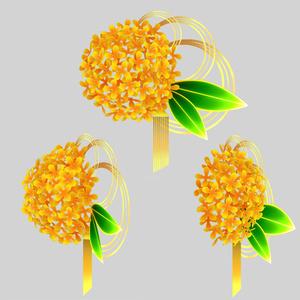 金木犀の髪飾り