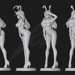 Sexy Bunny Girl STL for 3Dprint