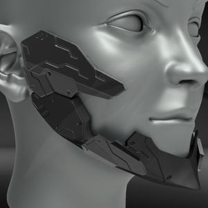 Cyborg Jaw Armor V2