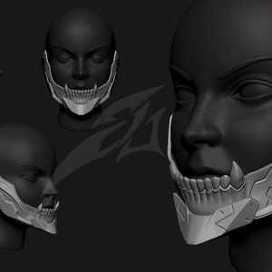 Cyborg Jaw V3 STL for 3Dprint