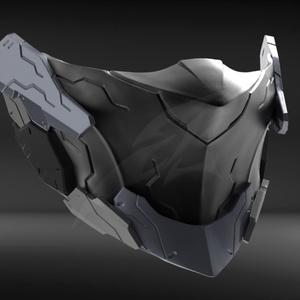 Cyborg Mask V2 STL for 3DPrint