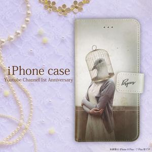 オリジナルデザイン手帳型iPhoneケース 【鳥さん】