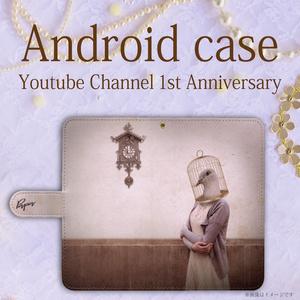オリジナルデザイン手帳型Androidケース 【鳥さん】