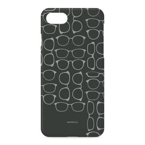 iPhoneケース 眼鏡柄