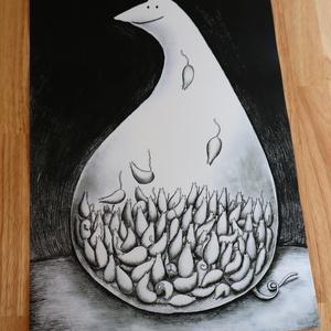 「ねこ食べられる」A3ポスター