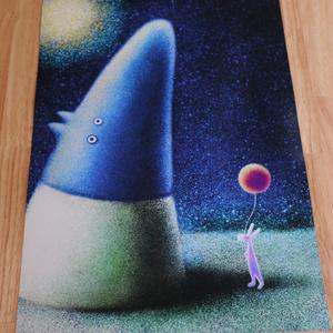 「夜の芝生」A3ポスター