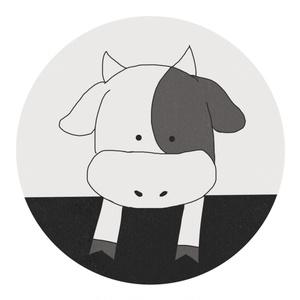 牛柄マステ 黒