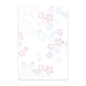 桜模様のポストカード