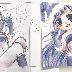 【原画】青色をテーマにした女の子たち【③④】