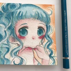 【原画】青色をテーマにした女の子たち【⑤⑥】