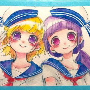 【原画】みらリコ双子コーデ