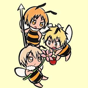 蜂蜜トリオ アクリルキーホルダー