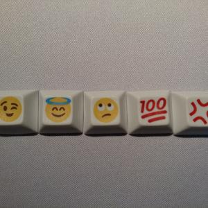 emojiキーキャップ(5個)