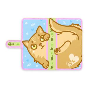 手帳型スマホケース(猫)