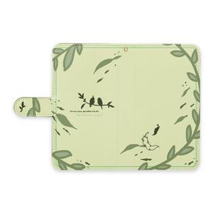 手帳型スマホケース(鳥さん)