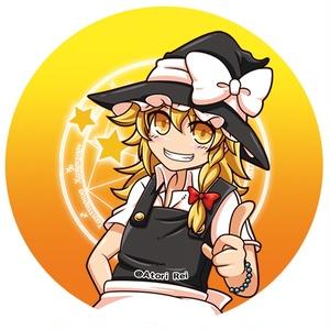 【東方】魔理沙缶バッチ