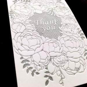 エンボスメッセージカード