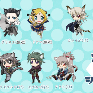 つながるアクリルチャーム(猫シリーズ/こゆる)Charms cats ver. (made by Koyuru)