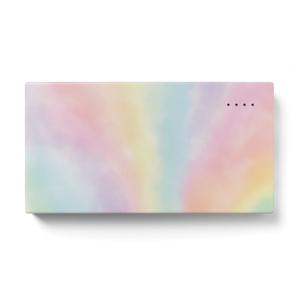 モバイルバッテリー 虹色