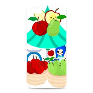 フルーツと女の子のiPhoneケース