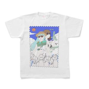 夏の百合ップルと余計なヤツTシャツ