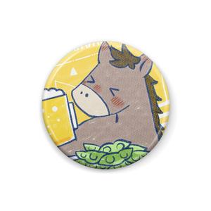 馬イラスト452 馬とビール  文字無し