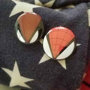 スパイダーマン デッドプール モチーフ缶バッジ