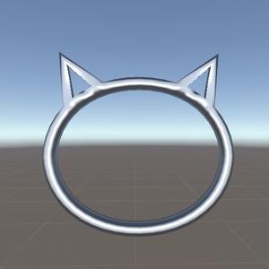シンプル猫アクセ
