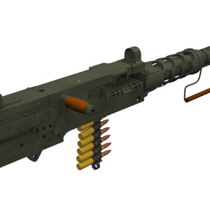 【Shade3D】M2重機関銃