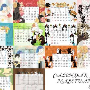 【予約販売発送は8/18以降】猫2020年版卓上カレンダー