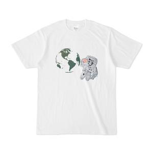 宇宙卓球Tシャツ-白