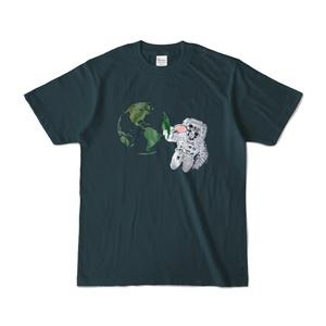 宇宙卓球Tシャツ-薄紺