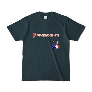 メジャーリーガー風Tシャツ-薄紺