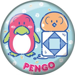 【ハチゼロキッズ】「ペンゴ」/80年代ファンシーグッズ風缶バッジ/44mm/送料込み