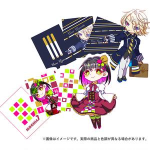 【創作】駄菓子擬人化・ステッカー【餅飴・ココアシガレット】