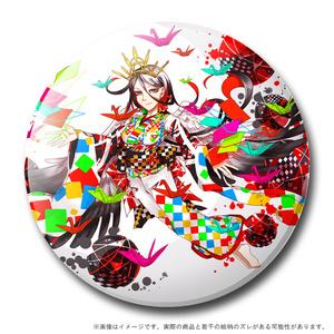 【創作】冠鶴・擬人化 57mm缶バッチ