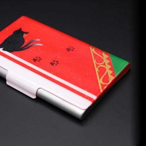 東方デザインカードケース/名刺ケース【橙】(塗装品)