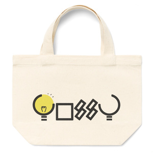 【yossyオリジナルロゴ ランチバッグ】電球デザイン