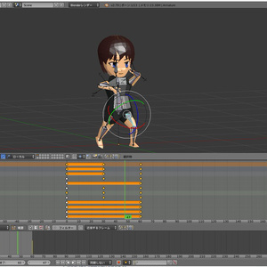 SMILE GAME BUILDER用キャラクター素体 自作3Dモデル作成支援