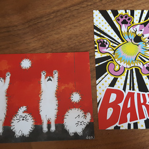 猫のポストカード7種セット