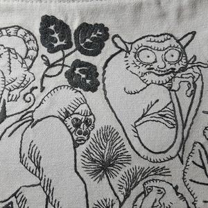 世界のサル 刺繍ショルダートートバッグ