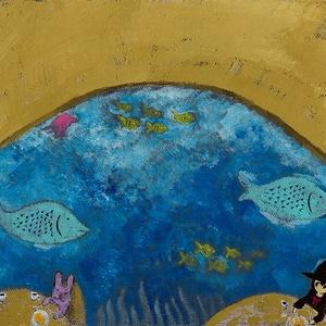 【絵画】水族館レストラン